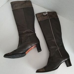 Brighton Pewter Croc Torch Tall Boots - 7M